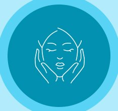 Animated person cupping face in her hands icon