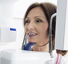 Woman receiving 3D scan