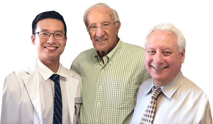 Our Burlington dentists Dr. Song Dr. Bruno and Dr. Lewis